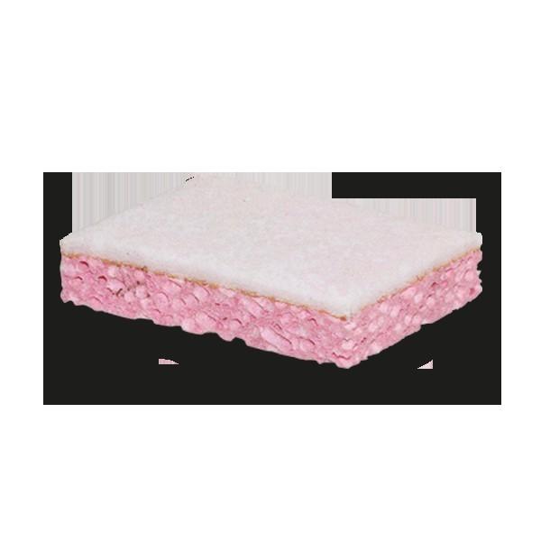 Tampon Blanc sur eponge vegetale rose 800301
